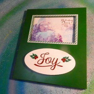 Home decor holiday JOY Christmas picture frame